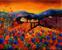 Tuscany Poppies painting