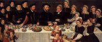 Portrait of Pierre de Moucheron (1508-1567) and Isabeau de Gerbier, their 18 children, son-in-law Allard de la Dale and first gr