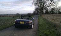 RS Limited Eunos in the Cambridgeshire countryside on a winter afternoon
