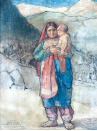 Afghani mother and child