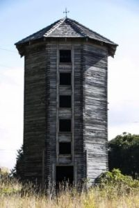Abandoned silo in Sasop, Washington