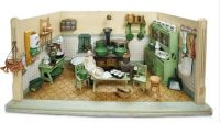 Green Doll House Kitchen