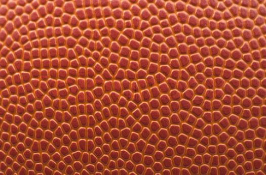a basketball, up close and personal