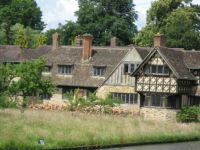 Houses at Hever Castle, Kent