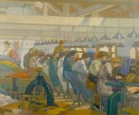 Charles Ginner_ the blouse factory