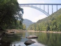 New River Bridge and Gorge--West Virginia.