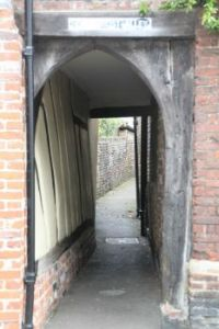 Holy Ghost Alley, Sandwich, Kent, Britain