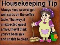 Housekeeping tip