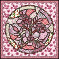 Stained glass in pink