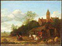 A barnyard scene from, 1650