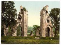 Glastonbury Abbey. Circa 1900. Photochromatic image.
