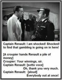 Casa Blanca - Bogart - Raines - I am Shocked Gambling - 1942