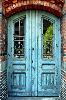 Faded Blue Entrance