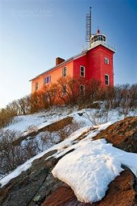 Marquette Harbour Lighthouse. By Aubrieta V. Hope