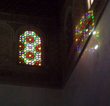 Stained glass in Morocco