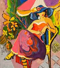 fashionable woman by Isaac Maimon