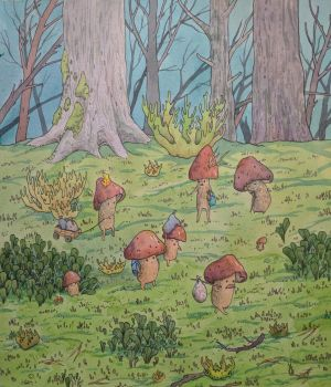 relocation of mushroom peoples
