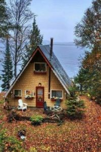 Small cottage by the water