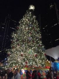 Christmas Tree at Sundance Square Fort Worth Texas