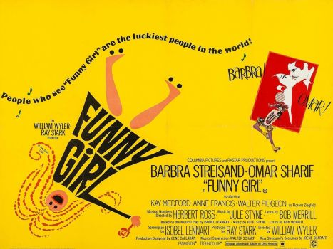 Solve FUNNY GIRL - 1968 MOVIE POSTER BARBRA STREISAND, OMAR SHARIF ...
