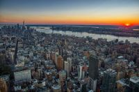 Sunset seen from the observation deck of the Empire State Building