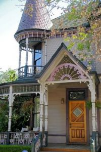 Victorian front door and porch