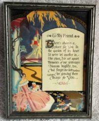 """To My Friend"" Deco Motto Print"