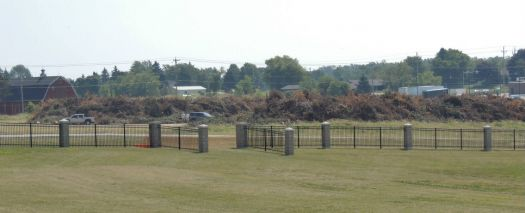 brush piles from August 7 storm