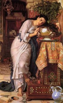 Pre-Raphaelite Art - Isabella and the Pot of Basil by William Holman Hunt