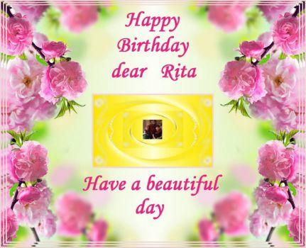 Happy Birthday Cake For Aunty Rita