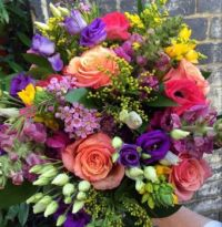 Happiness is..... Stunning seasonal bright bouquet.