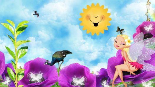 cute-fairy-flowers-kids-plant-sky-sun