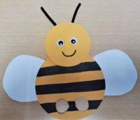 Cardstock Paper Bee Fingerpuppet
