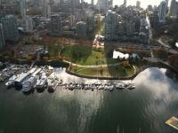 Coal Harbour by air
