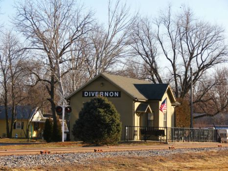 Train Station in Divernon, IL