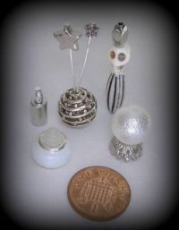 Crafts - Dolls Houses - 12th Scale Witchy Halloween Set - Silver (Small)