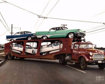 1957 DeSotos on the hauler!