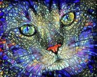 Stained-Glass Cat