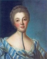 ca 1733 Portrait of Louise Dupin after Jean-Marc Nattier
