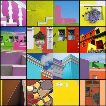 Bo-kaap mosaic by Sallyrango on flickr