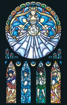 sailor moon stain glass