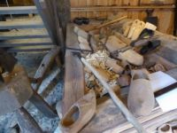 Old times museum Aalten.   The making of wooden clogs