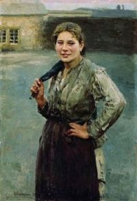 A Woman Shahterka 1894 by Nikolay Kasatkin (1859-1930)