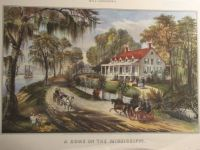 Currier & Ives:  A Home On The Mississippi