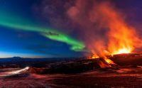 Volcano Smoke and Lights