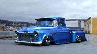55 chevy blue truck