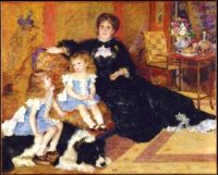 MADAME GEORGES CHARPENTIER AND HER CHILDREN IN 1878