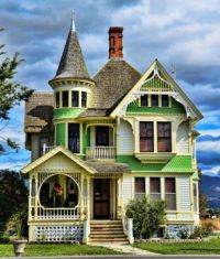 Before the Rain --  Victorian House in Seattle, Washington...