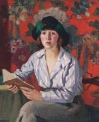 Pierre Adolphe Valette (French, 1876–1942), A Lady Reading