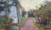 Edvard Munch (Norwegian, 1863–1944), Sommeraften i Åsgårdstrand (1891)